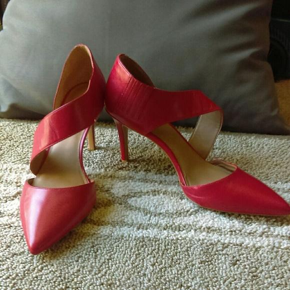 Red Calvin Klein Gella Dress Pump
